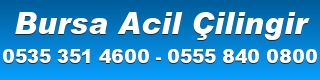 Bursa Çilingir 0535 351 4600